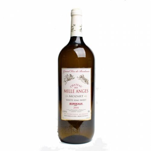 Франция Вино белое полусладкое 1,5 л Bordeaux Chateau des Mille Anges white semi sweet