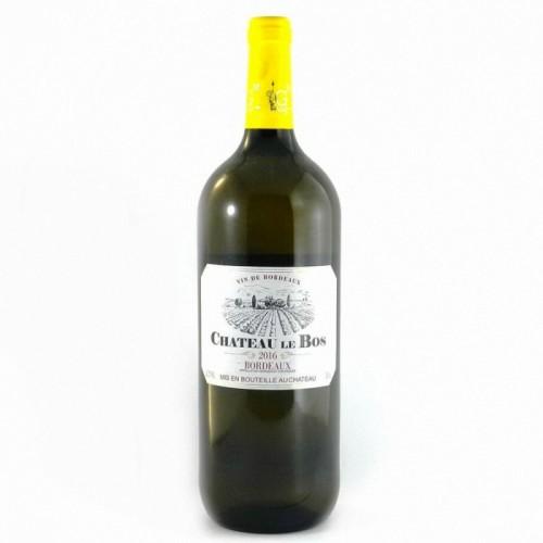 Франция Вино белое полусухое 1,5 л Bordeaux Chateau le Bos