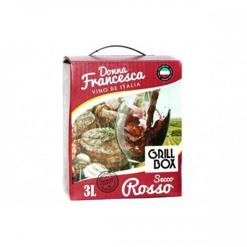 Италия Вино красное сухое 3л Donna Francesсa