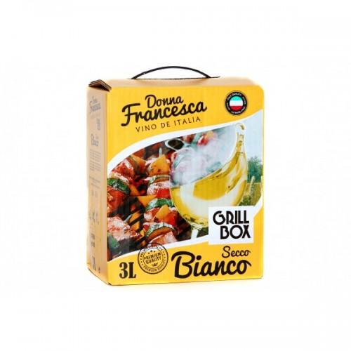 Италия Вино белое сухое 3л Donna Francesсa