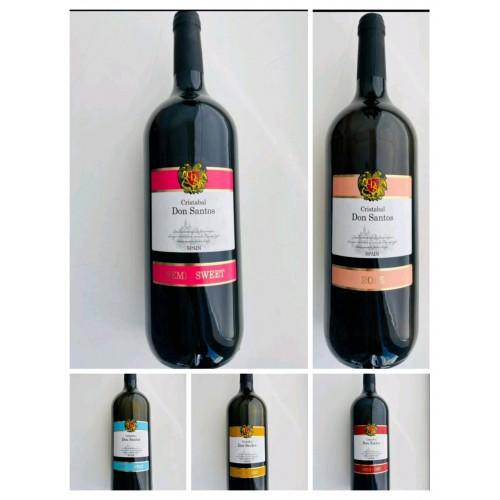 Испания Вино Белое полусладкое 1,5л  Cristabal Don Santos